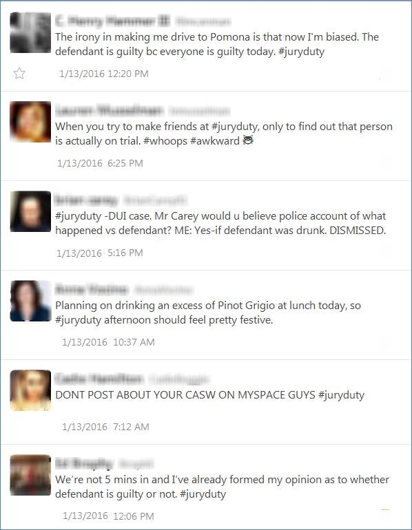 juror tweets